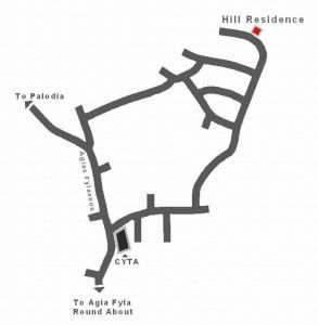 Hill Residence Location Map